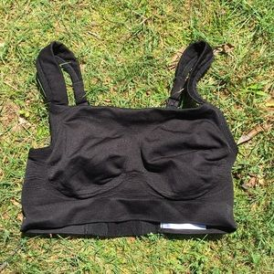 NWOT black moving comfort sports bra